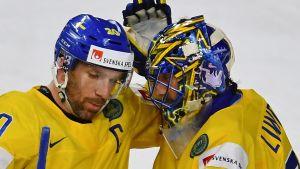 Tvillingbröderna Joel och Henrik Lundqvist.