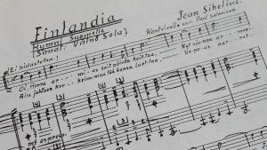 Väinö Solan kirjoittamat sanat Finlandia-hymniin