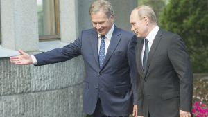 Rysslands president Putin på arbetsbesök i Finland.