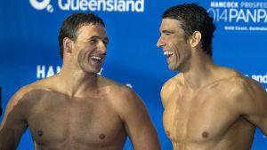 Ryan Lochte och Michael Phelps.