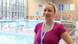Mia Karvonen, ansvarig idrottsinstruktör, svenskspråkiga verksamheten på Idrottsverket i Helsingfors