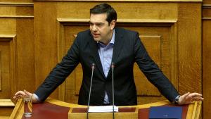 Greklands premiärminister Alexis Tsipras i Aten den 8 maj 2016.
