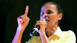 Marina Silva är presidentkandidat i Brasilien.