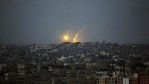 Luftangrepp över gaza