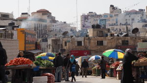 Handelsgata i Ramallah.