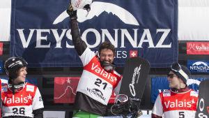 Anton Lindfors, tvåa i världscupen, mars 2014.