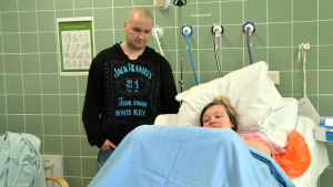 Par i förlossningssal vid Kotka bb