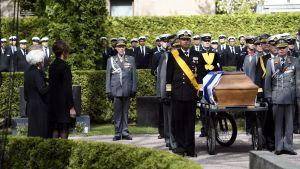 Mauno Koivistos kista vid gravläggningen på Sandudds begravningsplats den 25 maj 2017.