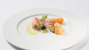 Finska kocklandslaget i  Culinary World Cup 2014; förrätt.