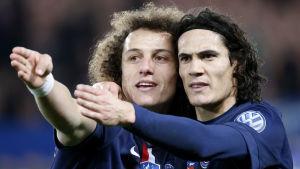 David Luiz och Edinson Cavani är tveksamma till att återvända till Paris.