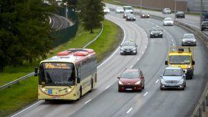 Trafik vid Österleden den 23 september 2014.