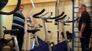 Träningspass i gymmet.