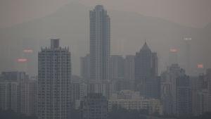 Smog över hongkong