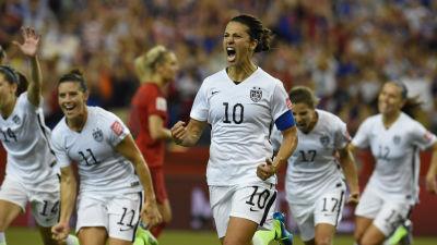 USA jublar över Carli Lloyds mål i VM-semifinalen mot Tyskland. Får man tro c8bf000d3d9c4