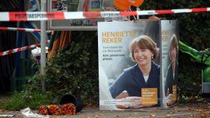 Borgmästarkandidaten Henriette Reker i tyska Köln knivhöggs den 17 oktober 2015.