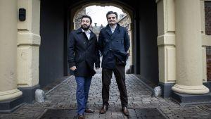 Partiledarna i invandrarpartiet Denk i Nederlädnerna