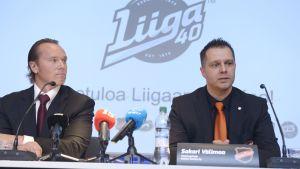 Ligans VD Kimmo Rannisto och KooKoo:s VD Sakari Välimaa.