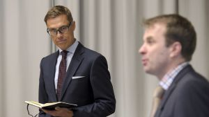 Finansminister Alexander Stubb och Roope Uusitalo
