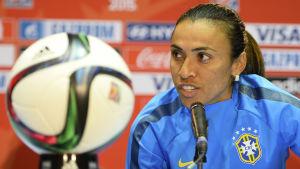 Marta var kapten för Brasiliens landslag i sommarens VM-turnering.