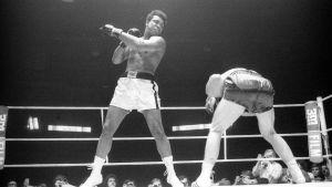 Muhammad Ali boxas mot tysken Jürgen Blin år 1971.