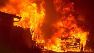 Skogsbränder i Oroville i Kalifornien.