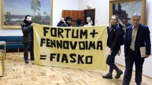Demonstration på Fortum