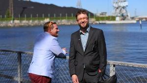 Ted Urho och Timo Harakka vid Havshagen