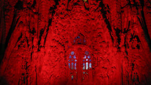 Kyrkan Sagrada Familia i Barcelona i Spanien den 1 december 2015.