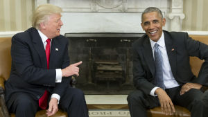 Donald Trump och Barack Obama 10.11.2016.
