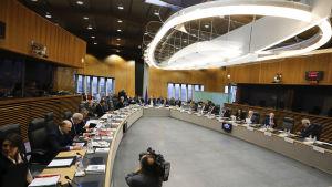 EU-kommissionen inför mötet där läget i Polen behandlas.