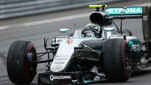 Nico Rosberg i sin Mercedes.