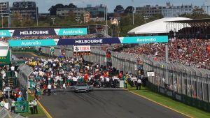 Starten på Formel 1 Grand Prixt i Melbourne 2016.