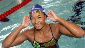 Mimosa Jallow simmar final i medleystafett och även individuell semifinal.