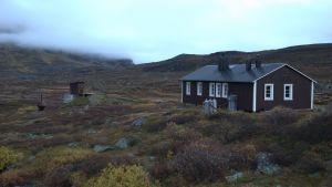 Fjällstuga på Girjas samebys marker i Gällivare.