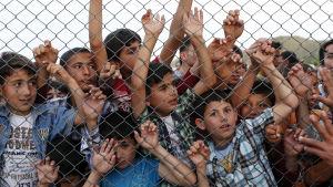 Syriska flyktingbarn i Turkiet.