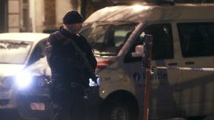Polisräd i Molenbeek i Bryssel den 14 januari 2017.