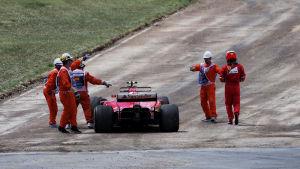 Kimi Räikkönen blev utan poäng i helgen.
