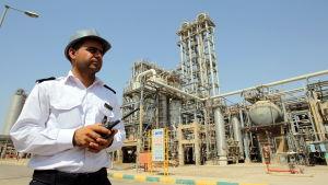 Säkerhetsvakt vid petrokemisk anläggning i sydvästra Iran