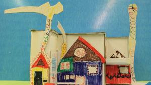 Lasten ja nuorten arkkitehtuurikoulu Arkin oppilastyö  mallinnos. Julin työ