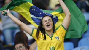 Brasiliansk fan vid OS i Rio de Janeiro.