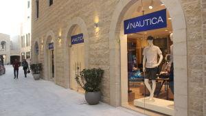 Klädkedjan Nauticas affär i staden Rawabi i Palestina.