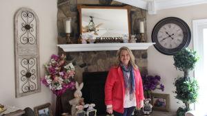 Karen Hott i familjens hem i Petersburg, West Virginia.