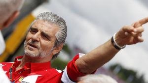 Maurizio Arrivabene, Ferraris stallchef, juni 2015.