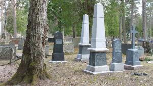 Sibelius-suvun hautoja Ahveniston hautausmaalla