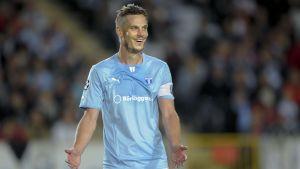 Markus Rosenberg efter segern mot Salzburg
