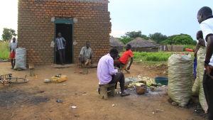 bycentrum i norra uganda