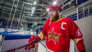 Janne Jalasvaara är kapten för HC Kunlun Red Star.