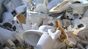 Porslin på Domargårds avfallsstation