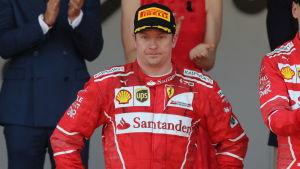 Kimi Räikkönen var måttligt road över sin andraplats i Monaco häromveckan.