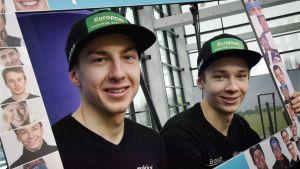 Ilkka Herola och Eero Hirvonen bildar Finlands lag i teamsprinten.